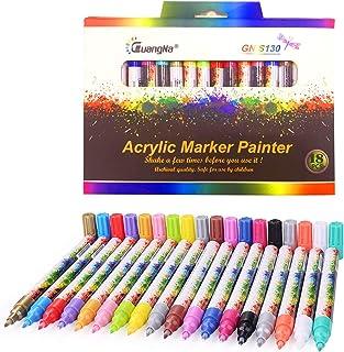 EKKONG Rotuladores acrílicos, 18 Colores Rotuladores
