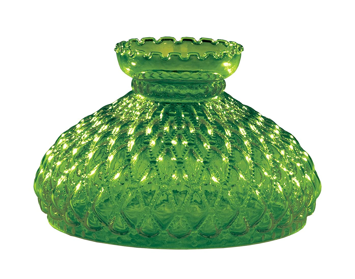 B&P Lamp 10 Inch Fitter, Dark Green Quilted Lamp Shade