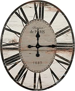 Creative Co-op Distressed Wood Wall Clock, 29