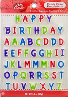"Betty Crocker "" ""Happy Birthday"" Candy Cake Decorations"