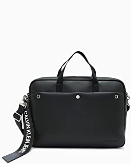 Calvin Klein Jeans Men's Banner Laptop Bag, Black, One
