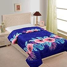 Cozyland Printed Floral Polycotton Single Reversible Comforter, Blue
