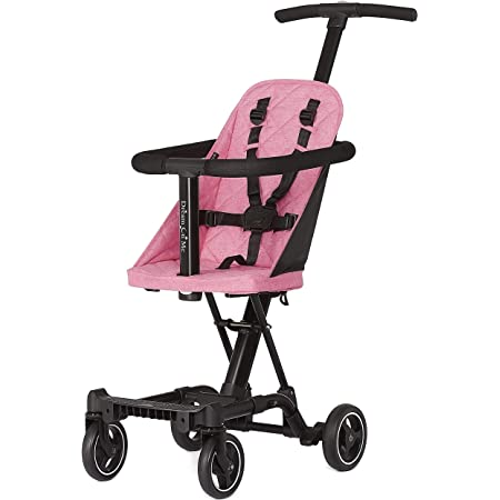 Dream On Me, Coast Stroller Rider, Lightweight, One hand easy fold, Travel Ready, Strudy, Adjustable Handles, Soft-Ride Wheels, Easy to push, Pink , 13.5-pound