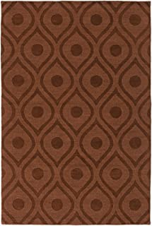 Artistic Weavers Central Park Zara Brown 6'x9' Solid/Striped Area Rug