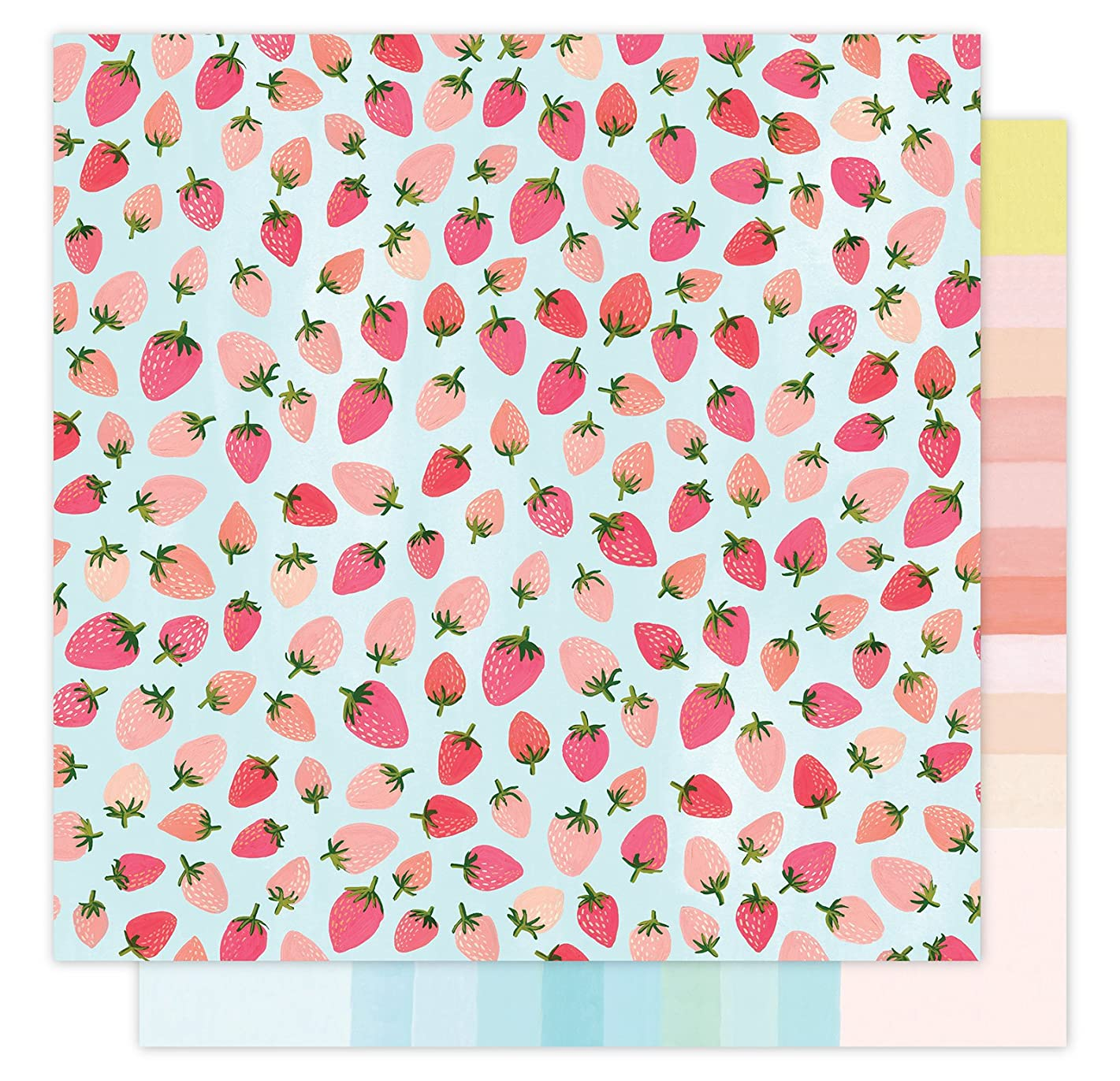 American Crafts 1 Canoe 2 Hazelwood Patterned Forest Berry 25 Pack of 12 x 12 Inch Paper, Piece