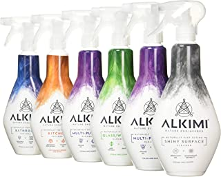 alkimi Eco Variety Pack, innehåller 2 st. universalrengöringsmedel, 1 st. badrengöringsmedel, 1 x köksrengöring, 1 x fönst...