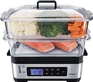 Steba DG 2 Cuiseur Vapeur Électronique Variable (3-6 L), Sans BPA, avec Panier de riz, Écran LCD avec 5 programmes automat...
