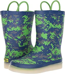 Western Chief Kids - Digital Camo LED Rain Boots (Toddler/Little Kid/Big Kid)