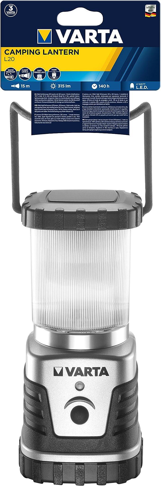 Varta 1 Watt LED Linterna (3AA), Naranja