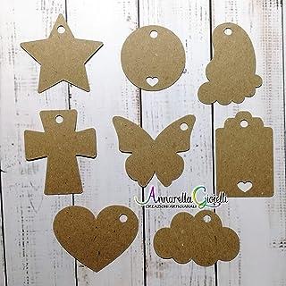 Cartellini carta kraft per bomboniera, a partire da 20 pezzi, bomboniere, avana, etichette,matrimonio, battesimo, comunion...