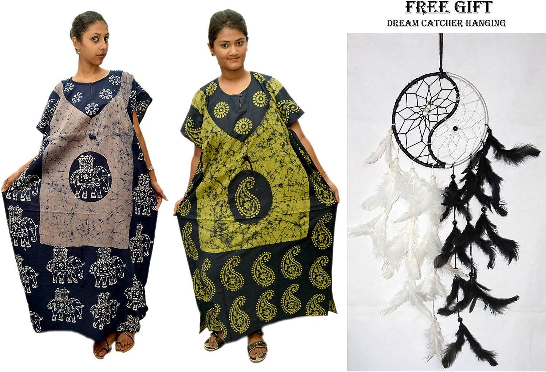 Odishabazaar Women Beachwear Swimsuit Swimwear Caftan Cover up + Dream Catcher Combo