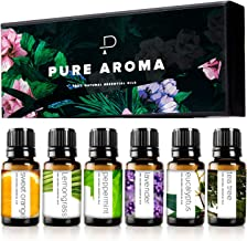 Essential oils by PURE AROMA 100% Pure Therapeutic Grade Oils kit- Top 6 Aromatherapy..