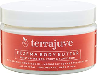 Eczema Treatment Cream by Terrajuve, Moisturizing and Soothing Lotion for Dry, Itchy, Red, Flaky Skin, Rashes, and Dermatitis, Safe for Baby, Lasting Relieft, Natural, Organic, Made in USA