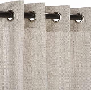 Pawleys Island Sunbrella Curtain - Linen Silver 96 Inches