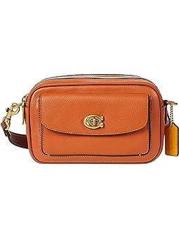 코치 카메라백 COACH Color-Block Leather Willow Camera Bag,Canyon Multi