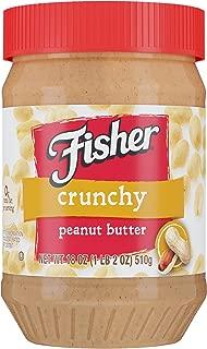 FISHER Snack Crunchy Peanut Butter, 18 oz Jar (Pack of 12)