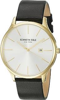 Kenneth Cole Men's New York KC15096001 Gold Leather Japanese Quartz Dress Watch