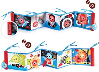 Yookidoo Baby's First Book-Lights and Music Soft Double Sided, Multi-Colour