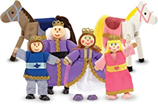 Melissa & Doug Royal Family Wooden Doll Set,Multi,4 inches