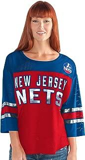 G-III Sports NBA New Jersey Nets Adult Women First Team Mesh Top, XX-Large, Red/Blue