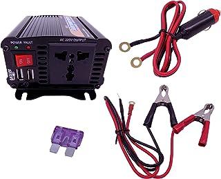 500W Inversor de Corriente DC 12V to AC 230V 240V Transformador para Cargador de Coche Inversor Con 1 Toma Enchufe Y 2 Puertos USB De 3,1 Inversor de Energia EPI500
