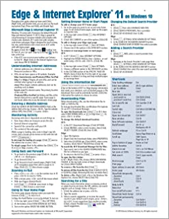 Microsoft Edge and Internet Explorer 11 for Windows 10 Quick Reference Guide (Cheat Sheet of Instructions, Tips & Shortcuts - Laminated Card) Updated July 2020