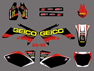 New Decal And Sticker Kit For Honda CRF250R CRF250 CRF 250R 250 2004 2005 Graphic Background Decals 1 Set Stickers