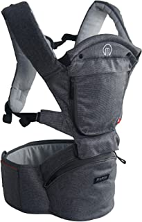 MiaMily Hipster Smart Ergonomic Baby & Child Carrier – Baby Hiking Backpack with Built-in 3D Hip Seat for Toddlers or Infants