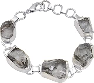 Orchid Jewelry Yellow/White Gold Plated Solid Brass Link Bracelet for Women   Fancy Cut Multi Gemstone Fashion Bracelets f...