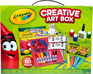 Crayola Creative Art Box Art Set over 80 Pieces Great for Gift