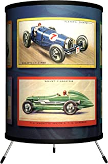 Lamp-In-A-Box TRI-TTN-VRACE Transportation - Vintage Race Cars Tripod Lamp