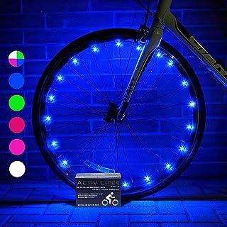 چراغ های چرخ دوچرخه LED Life را با باتری ها فعال کنید! برای ایمنی و سبک نهایی (همه بسته های تایر) 100٪ روشن تر و قابل مشاهده از تمام زوایا