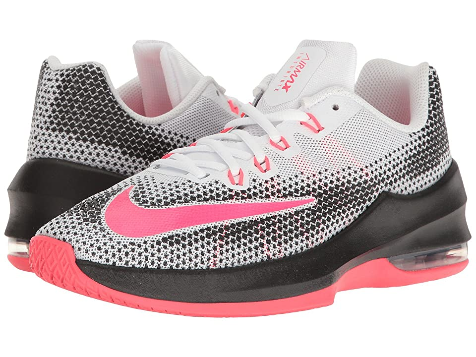 Nike Kids Air Max Infuriate Basketball (Big Kid) (White/Racer Pink/Black/Wolf Grey) Girls Shoes