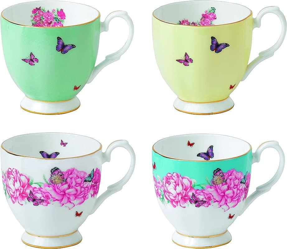 Royal Albert Miranda Kerr Vintage Mugs Set Of 4 10 5 Oz