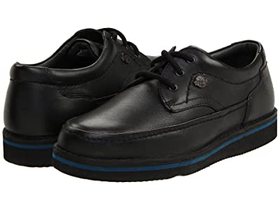 Hush Puppies Mall Walker (Black Leather) Men