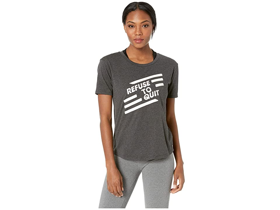 New Balance Heather Tech Graphic Tee (Black) Women