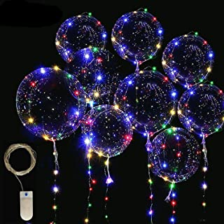 LED Light Up Bobo Balloons Fairy String Lights, Cell Battery Operated LED Fairy String Lights 4 Meters(13ft) 12 Pieces,20 ...