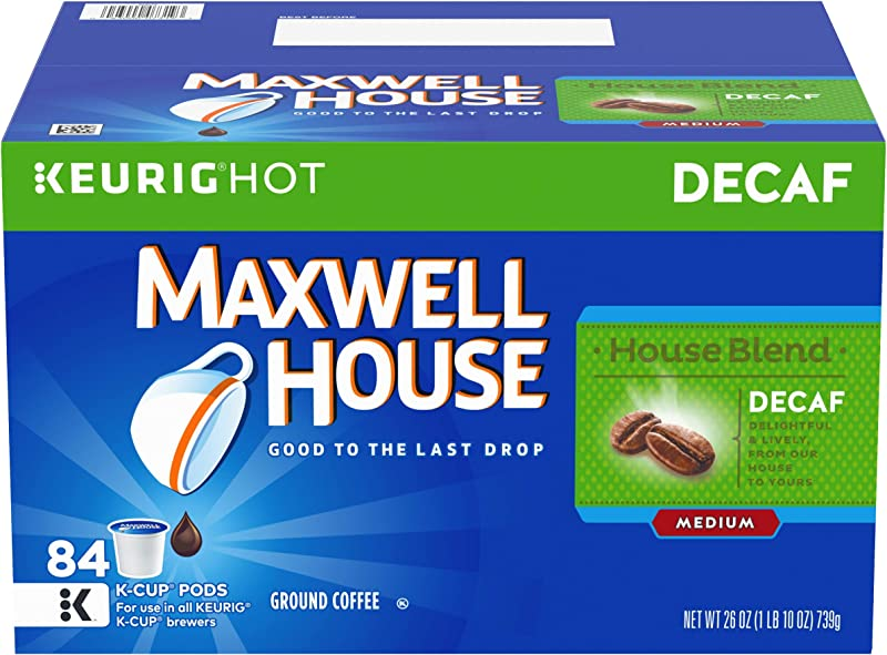 Maxwell House Decaf House Blend Keurig K Cup Coffee Pods 84 Count