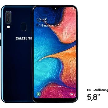Samsung Galaxy A20e Dual-SIM SM-A202F/DS 32GB (GSM Only, No CDMA) Factory Unlocked 4G/LTE Smartphone - International Version (Blue)