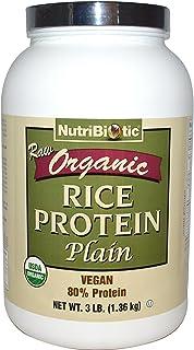 NutriBiotic, Raw Organic Rice Protein, Plain, 3 lbs (1.36 kg)