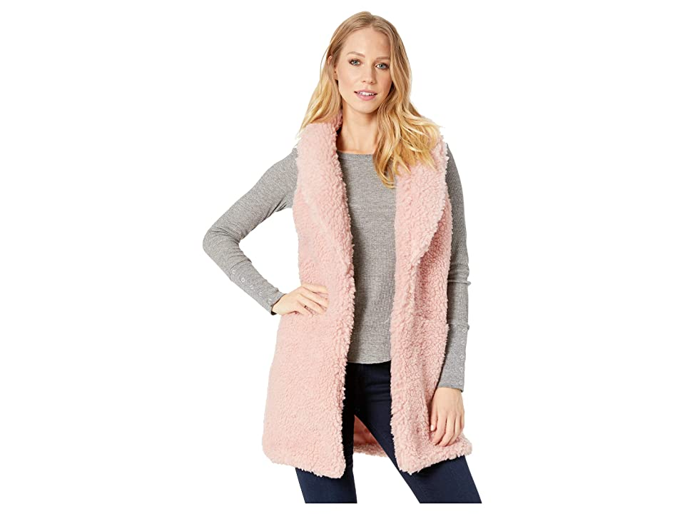 Betsey Johnson Sherpa Vest (Blush) Women