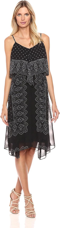Nanette Nanette Lepore Women's Placement Print Hanky Hem Dress