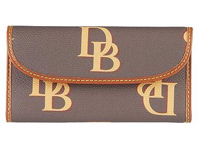 Dooney & Bourke Monogram Continental Clutch (Brown) Clutch Handbags