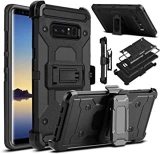 Galaxy Note 8 Case, Venoro Heavy Duty Armor Shockproof Rugged Protection Case Cover with Belt Swivel Clip and Kickstand for Samsung Galaxy Note 8 6.3