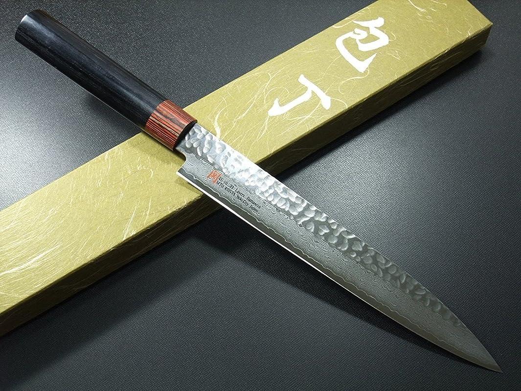 SETO Japanese Chef Knives: Damascus Forged Steel from World Famous Seki, Japan (I-7: 210m/ m: Sashimi Knife)