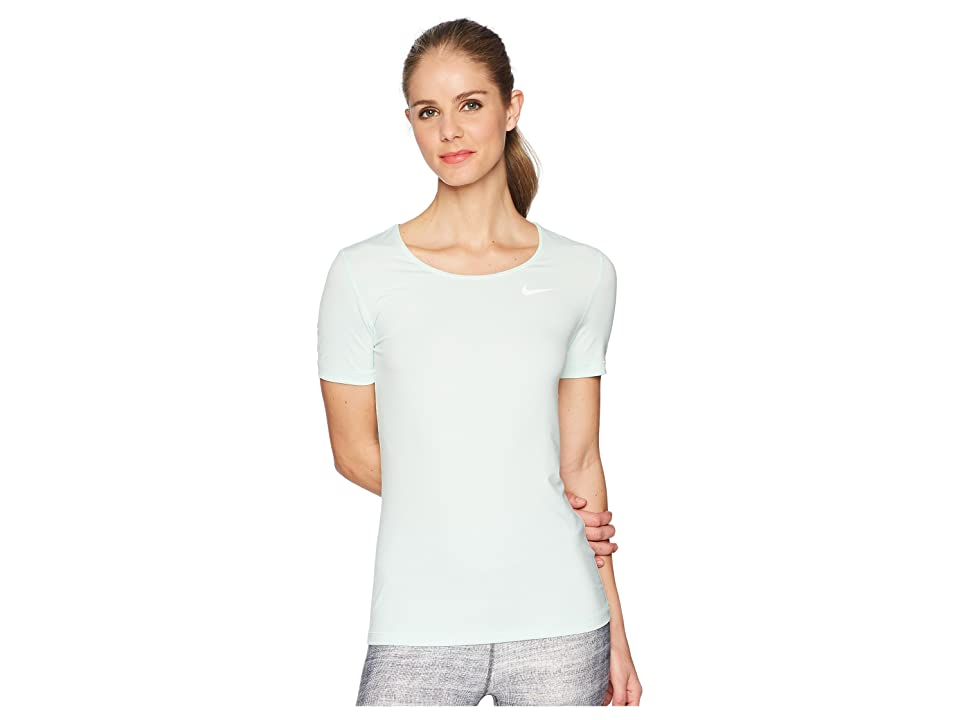 Nike Pro Mesh Short Sleeve Top (Igloo/White) Women