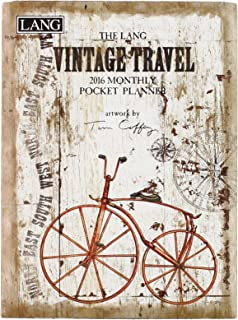 Lang Vintage Travel 2016 Monthly Pocket Planner by Tim Coffey, January 2016 to January 2017, 4.25 x 6.5 Inches (1003169)
