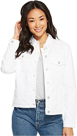 Katy Relaxed Jacket in White Vintage