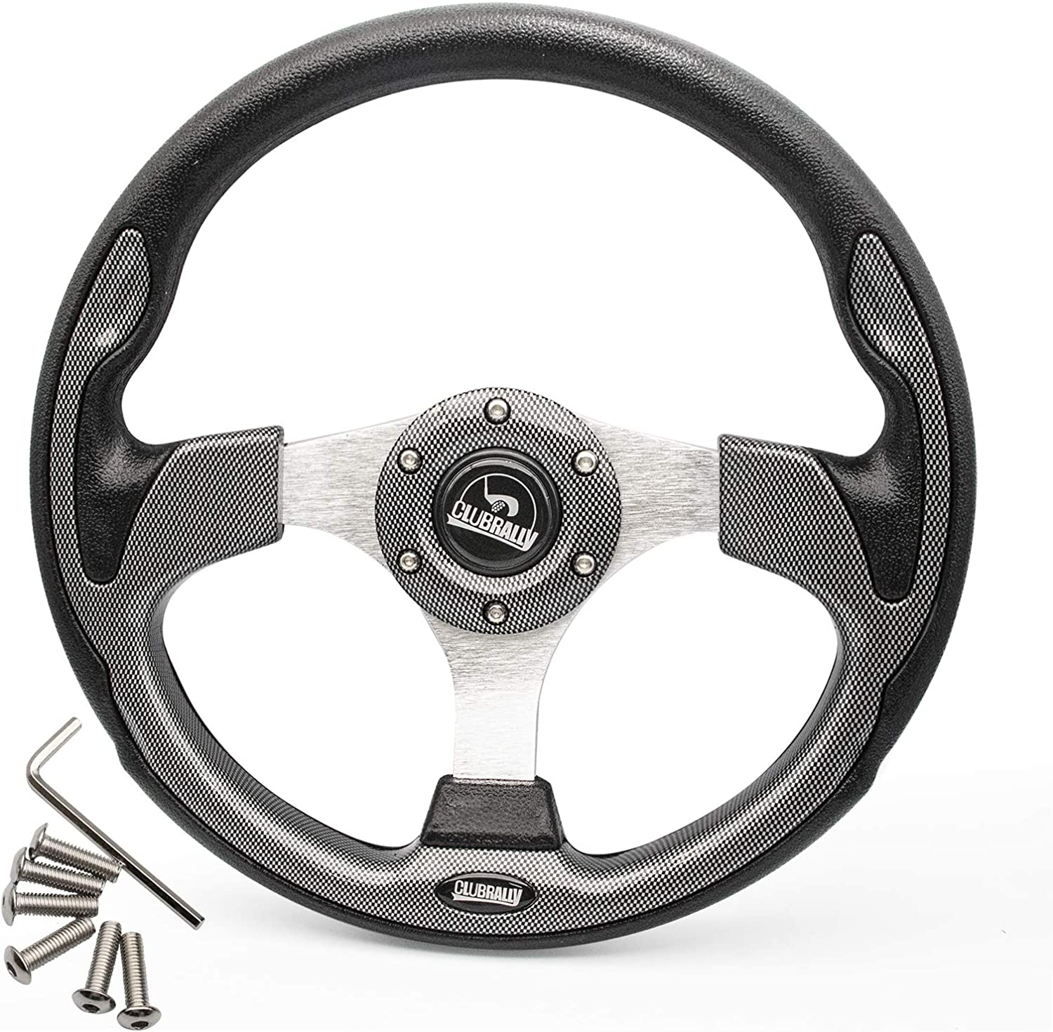 CLUBRALLY Golf Cart Steering Recommendation Wheel for Generic Most or Ranking TOP6 Adapter