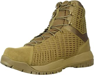 Men's Highlight MC Football Shoe Military and Tactical Boot, White (101)/Metallic Gold, 7.5
